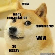 So Doge Meme - doge many presentation wow much words wow so essay weknowmemes