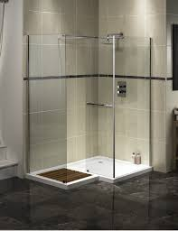 Open Shower Bathroom Design by Bathroom Exciting Merola Tile Wall With Doorless Shower For Small