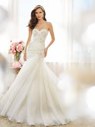wedding dresses az strapless fit and flare wedding dress