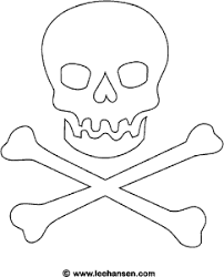 jolly roger pirate flag coloring page free pirates printable