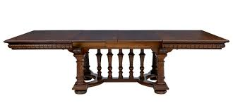 19th century impressive large oak extending dining table seats 12