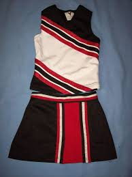cheerleader uniform halloween costume football game black red top