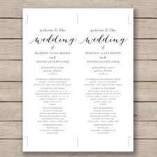 wedding program sles free word wedding template wedding program template 61 free word pdf