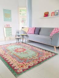 Bilder Schlafzimmer Amazon Amazon De Pastell Vintage Teppich Im Angesagten Shabby Chic