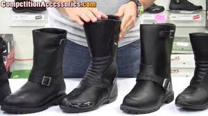 mens motorcycle boots brown mens waterproof boots comparison at competition accessories youtube