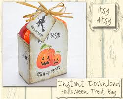 halloween treat bag digital printable halloween treat box