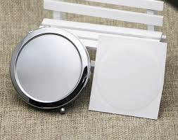 Cermin Dua Sisi diy kit kosong compact cermin dengan 58mm epoxy stiker saku cermin