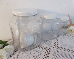 clear plastic kitchen canisters clear glass canister etsy