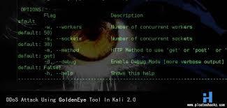 kali linux latest tutorial kali linux tutorial ddos attack using goldeneye tool in kali 2 0
