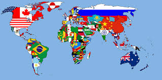World Map Dominican Republic by World Map With Flags For Country Colours 1680x1050 Mapporn