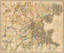 g map superb map of the boston area by g hales antique maps