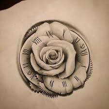 best 25 clock and rose tattoo ideas on pinterest pocket watch