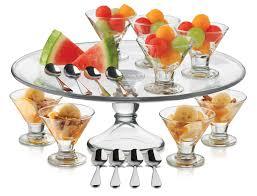 amazon com libbey just desserts mini flare glass with platter