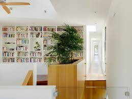modern planters indoor hall modern with built in bookcase built