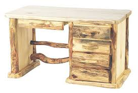 Pine Office Furniture by Rustic Log Office Furniture Aspen U0026 Pine Log Desks Log Bookcases