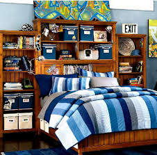 awesome blue teenage boys bedroom ideas with nice furniture set