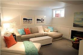 Cheerful Interior Basement Family Room Paint Color Ideas - Family room color