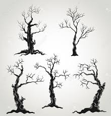spooky cemetery clipart spooky tree stock vector illustration and royalty free spooky tree