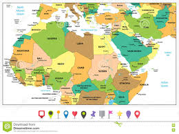 Political Map Africa by Detailed Political Map Of Northern Africa And The Middle East An