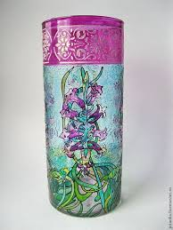 Stained Glass Vase 11 Best My Glass Art Images On Pinterest Glass Vase Mosaic And