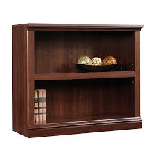 amazon com sauder 2 shelf bookcase select cherry finish kitchen