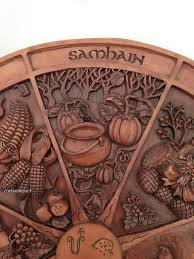 wiccan thanksgiving wheel of the year plaque sabbat plaque for your home altar
