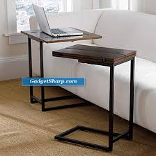 sofa c table convenient slide under sofa tables gadget sharp