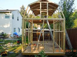 Barn Roof by Gambrel Roof Shed Youtube