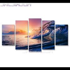 beach movie posters promotion shop for promotional beach movie home decoration sea view child room decor nordic hd print 5 piece canvas art oil painting movie posters modular picture beach