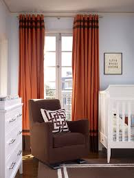 96 Long Curtains 96 Long Curtains Living Room Contemporary With Orange Chair