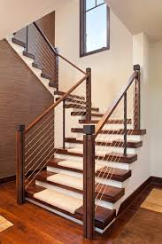 Metal Handrail Lowes Lowes Stair Treads Staircase Contemporary With Cable Rail Carpet