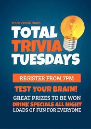 total trivia night template with light bulb graphic