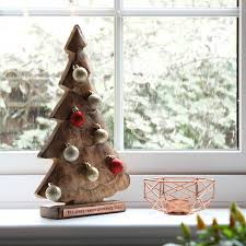 personalised wooden christmas tree by bourneys