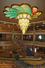Art Nouveau Chandelier The Atrium Of The Disney Fantasy Cruise Ship Has An Art Nouveau