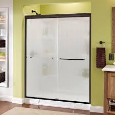 delta simplicity 60 in x 70 in semi framed sliding shower door