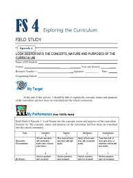 Blank Curriculum Map Template by Fs 4 Exploring The Curriculum Full Episode Curriculum Special