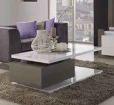 High Coffee Tables Renoir Coffee Table In High Gloss Taupe And Grey Home Design