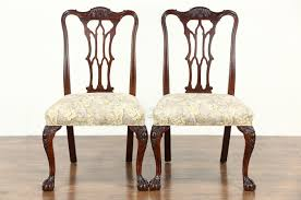 Chippendale Dining Room Chairs Sold Set Of 6 Georgian Chippendale 1930 Vintage Dining Chairs