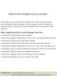 Matrimonial Resume Sample by Top8motelmanagerresumesamples 150517042927 Lva1 App6891 Thumbnail 4 Jpg Cb U003d1431837010