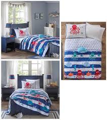 Blue Full Comforter Blue White Sea Life Ocean Fish Bedding Twin Or Full Comforter Kids