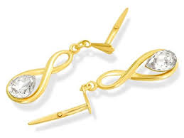 andralok earrings 9ct gold drop andralok earrings 24mm drop jewellery