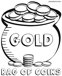 coins coloring page coin pages and itgod me