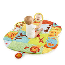 amazon com bright starts baby u0027s play place playmat swingin
