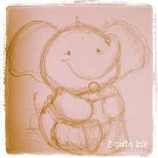 little elephant sketch