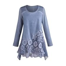 tunic blouse s tunic top moonlit garden blue lace blouse free