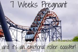 light cring 7 weeks pregnant well at 7 weeks pregnant i am back on a roller coaster emotional