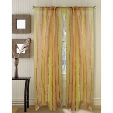 95 Inch Curtain Panels Golden Silk Organza 95 Inch Curtain Panel Free Shipping Today