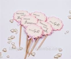 baby shower cake toppers girl paper baby shower cupcake toppers girl shower party picks