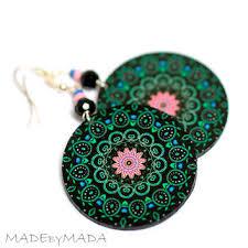 decoupage earrings shop rosette earrings on wanelo