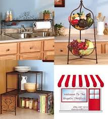 bronze new over sink shelf kitchen organizer paper towel holder